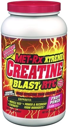 DROPPED: MET-Rx - Xtreme Creatine Blast RTC Fruit Punch - 5 lbs.