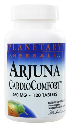 DROPPED: Planetary Herbals - Arjuna CardioComfort 460 mg. - 120 Tablets Formerly Planetary Formulas