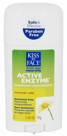 DROPPED: Kiss My Face - Active Enzyme Deodorant Stick Summer - 2.48 oz. CLEARANCE PRICED
