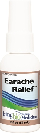 DROPPED: King Bio - Homeopathic Natural Medicine Earache Relief - 2 oz. CLEARANCE PRICED
