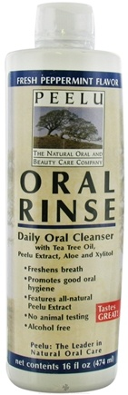 DROPPED: Peelu - Oral Rinse Peppermint Flavor - 16 oz. CLEARANCE PRICED