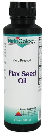 DROPPED: Nutricology - Flax Seed Oil Liquid - 8 oz. CLEARANCE PRICED