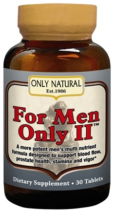 DROPPED: Only Natural - For Men Only II Ultra Potent Male Formula - 30 Tablets