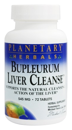 Planetary Herbals - Bupleurum Liver Cleanse 530 mg. - 72 Tablets Formerly Planetary Formulas