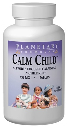 DROPPED: Planetary Herbals - Calm Child Tablets - 10 Tablets Formerly Planetary Formulas CLEARANCE PRICED