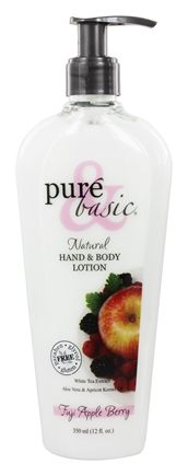 Pure & Basic - Natural Hand & Body Lotion Fuji Apple Berry - 12 oz.