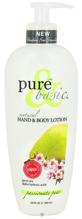 DROPPED: Pure & Basic - Natural Hand & Body Lotion Passionate Pear - 12 oz.