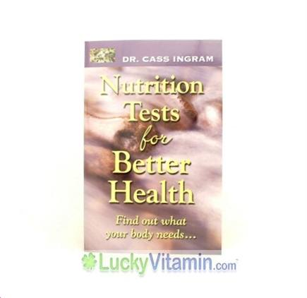 DROPPED: Knowledge House Publishers - Nutrition Tests for Better Health by Dr. Cass Ingram - 1 Book