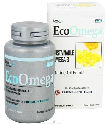 DROPPED: Lane Labs - EcoOmega Sustainable Omega 3 - 150 Softgels CLEARANCE PRICED