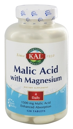 Kal - Malic Acid with Magnesium - 120 Tablets