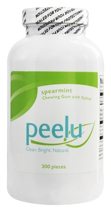 Peelu - Chewing Gum with Xylitol Spearmint Flavor - 300 Piece(s)