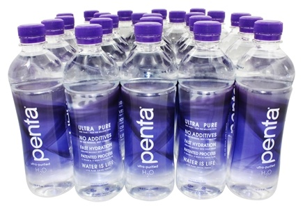 Penta - Ultra-Purified Antioxidant Water - 24 Bottles - 1 Case - 16.9 oz.
