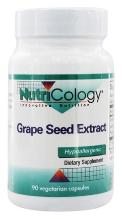 Nutricology - Grape Seed Extract - 90 Vegetarian Capsules