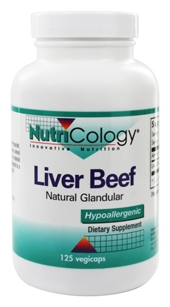 DROPPED: Nutricology - Liver Organic Glandular - 125 Vegetarian Capsules