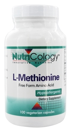 Nutricology - L-Methionine 500 mg. - 100 Vegetarian Capsules