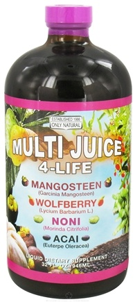 DROPPED: Only Natural - Multi Juice 4-Life Liquid - 32 oz. CLEARANCED PRICED