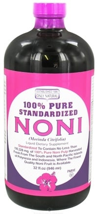 DROPPED: Only Natural - Noni 100% Standard Liquid - 32 oz. CLEARANCE PRICED