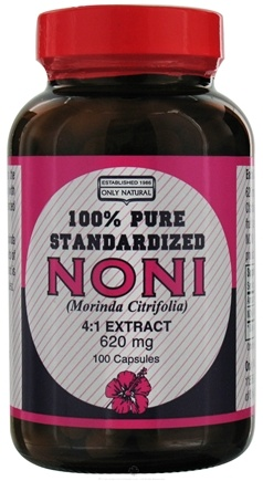 DROPPED: Only Natural - Noni Extract 620 mg. - 100 Capsules CLEARANCE PRICED