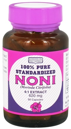 DROPPED: Only Natural - Noni Extract 620 mg. - 50 Capsules CLEARANCE PRICED