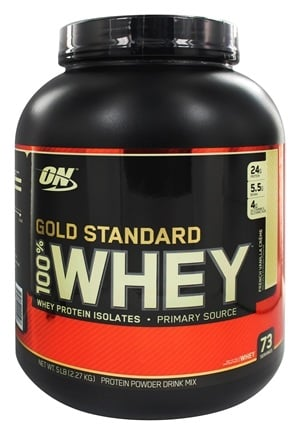 Optimum Nutrition - 100% Whey Gold Standard Protein French Vanilla Creme - 5 lbs.