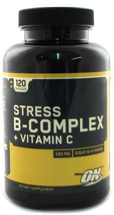 DROPPED: Optimum Nutrition - High Potency Stress B-Complex Plus Vitamin C - 120 Capsules CLEARANCE PRICED