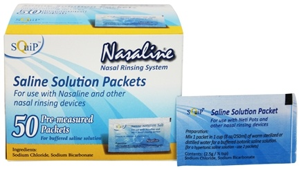 Squip - Nasaline Pre-Measured Salt - 50 Packet(s)
