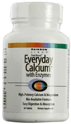 DROPPED: Rainbow Light - Everyday Calcium with Enzymes - 60 Tablets