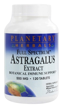 Planetary Herbals - Astragalus Extract Full Spectrum 500 mg. - 120 Tablets Formerly Planetary Formulas