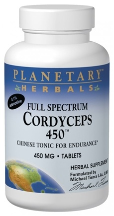 DROPPED: Planetary Herbals - Cordyceps 450 Full Spectrum 450 mg. - 60 Tablets Formerly Planetary Formulas CLEARANCE PRICED