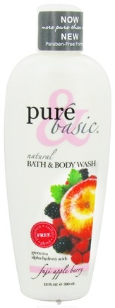DROPPED: Pure & Basic - Natural Bath & Body Wash Fuji Apple Berry - 12 oz.