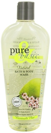 DROPPED: Pure & Basic - Natural Bath & Body Wash Passionate Pear - 12 oz.