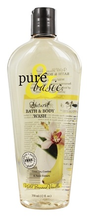 Pure & Basic - Natural Bath & Body Wash Wild Banana Vanilla - 12 oz.