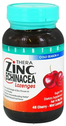 DROPPED: Quantum Health - Thera Zinc Lozenges with Echinacea--Cherry Mint - 48 Lozenges CLEARANCE PRICED