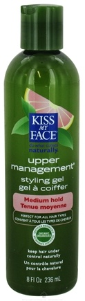 DROPPED: Kiss My Face - Styling Gel Upper Management Medium Hold Grapefruit - 8 oz.