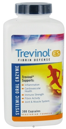 DROPPED: Landis Revin Nutraceuticals - Trevinol ES Fibrin Defense Systemic Oral Enzyme - 300 Capsules CLEARANCED PRICED