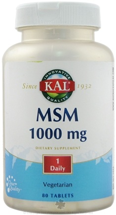 DROPPED: Kal - MSM 1000 mg. - 80 Vegetarian Tablets CLEARANCE PRICED