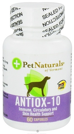 DROPPED: Pet Naturals of Vermont - Antiox-10 for Dogs 10 mg. - 60 Capsules CLEARANCED PRICED