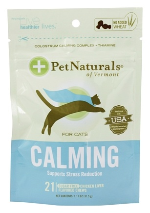 DROPPED: Pet Naturals of Vermont - Calming Support for Cats Soft Chews - 21 Chewables