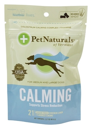 Pet Naturals of Vermont - Calming Support for Medium & Large Dogs Soft Chews Chicken Liver Flavored - 21 Chewables