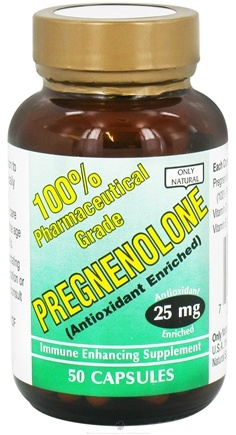 DROPPED: Only Natural - Pregnenolone Antioxidant Enriched 25 mg. - 50 Capsules