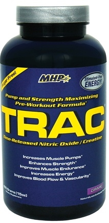 DROPPED: MHP - Trac Time-Released Nitric Oxide/Creatine Grape - 15 oz. CLEARANCE PRICED