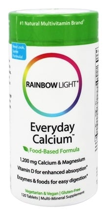 Rainbow Light - Everyday Calcium with Enzymes - 120 Tablets