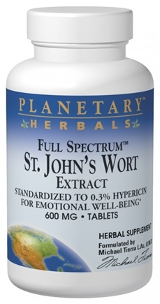 DROPPED: Planetary Herbals - Full Spectrum St. John's Wort Extract - 120 Tablets Formerly Planetary Formulas