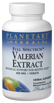 DROPPED: Planetary Herbals - Full Spectrum Valerian Extract 650 mg. - 60 Tablets Formerly Planetary Formulas