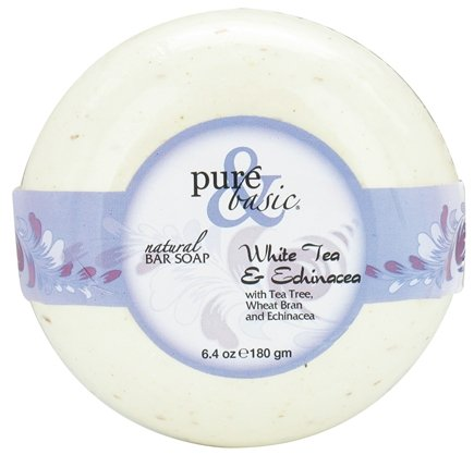 DROPPED: Pure & Basic - Natural Bar Soap White Tea & Echinacea - 6.4 oz. CLEARANCE PRICED