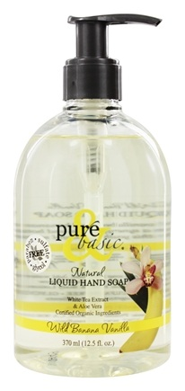 Pure & Basic - Natural Liquid Hand Soap Wild Banana Vanilla - 12.5 oz.
