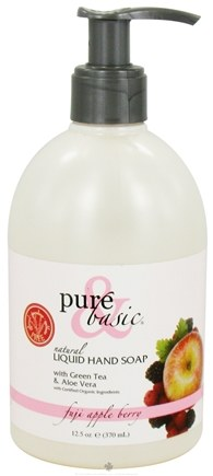 DROPPED: Pure & Basic - Natural Liquid Hand Soap Fuji Appleberry - 12.5 oz.