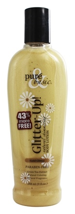 DROPPED: Pure & Basic - Glitter-Up! Natural Shimmering Body Lotion Gold - 6.3 oz.