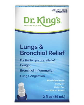 King Bio - Homeopathic Natural Medicine Lungs & Bronchial Relief - 2 oz.