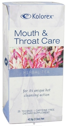 DROPPED: Kolorex - Herbal Tea Mouth & Throat Care - 20 Bags CLEARANCE PRICED